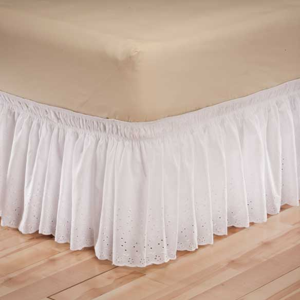 Eyelet Bed Ruffle - View 1