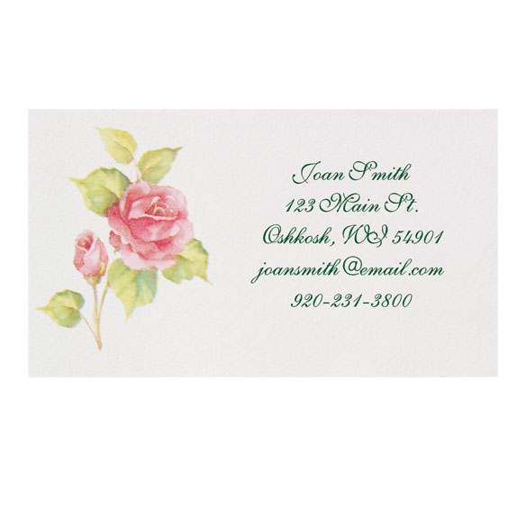 Personalized Rose Business Cards - Set of 200