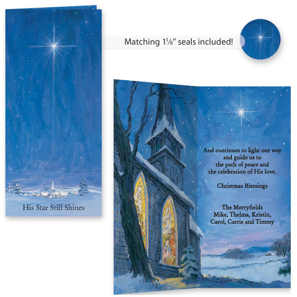The Star Still Shines Christian Christmas Card Set of 20 - View 1