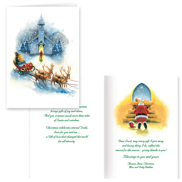 Santa's Prayer Christian Christmas Card Set of 20
