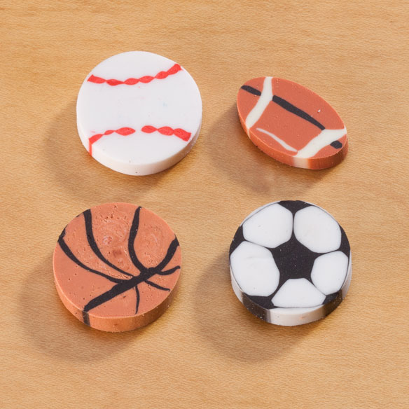 Sports Erasers - Pack Of 36