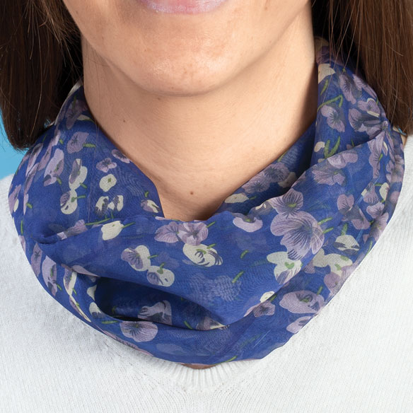 Pansy Floral Neck Cowls Set of 3 - View 1