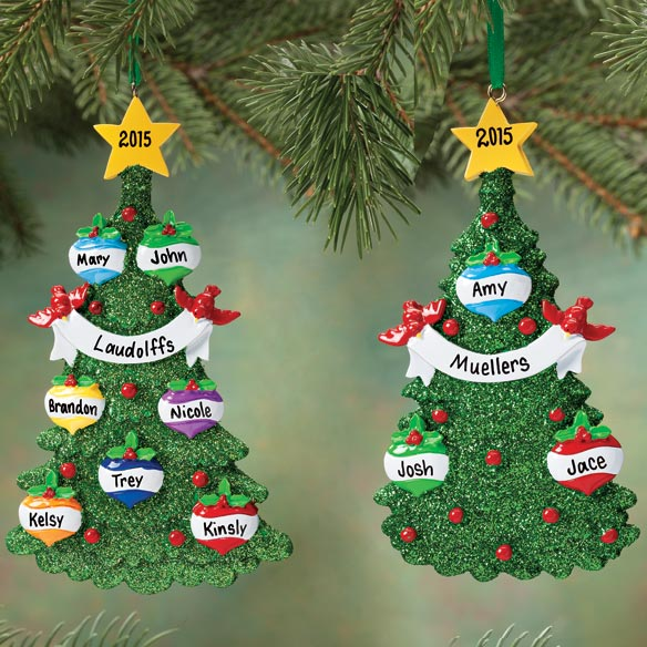 Personalized Glitter Tree Ornament - View 1