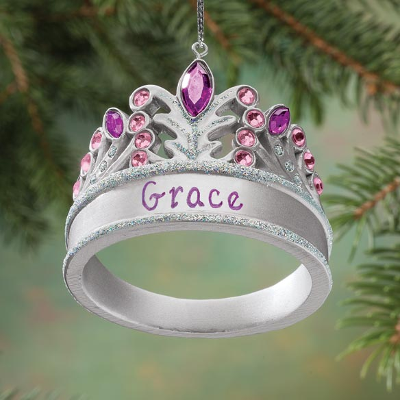 Personalized Princess Tiara Ornament - View 1
