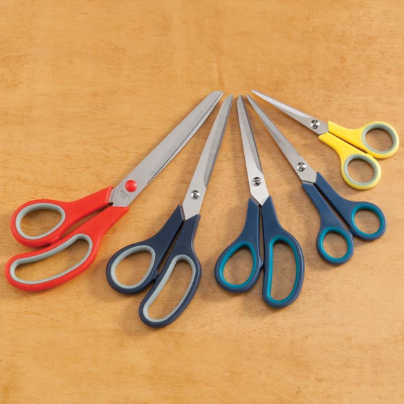 5 PC Comfort Grip Scissors
