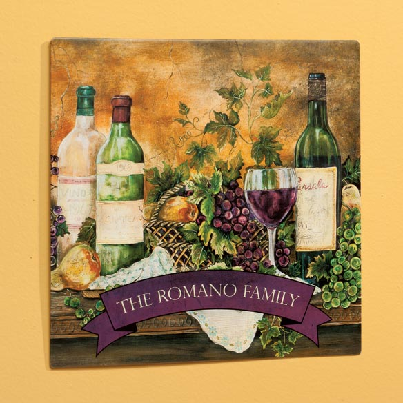 Personalized 12 x 12 Tuscan Metal Wall Plaque - View 1