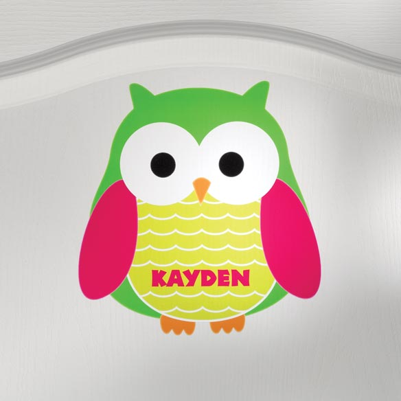 Personalized Owl Décor Cling