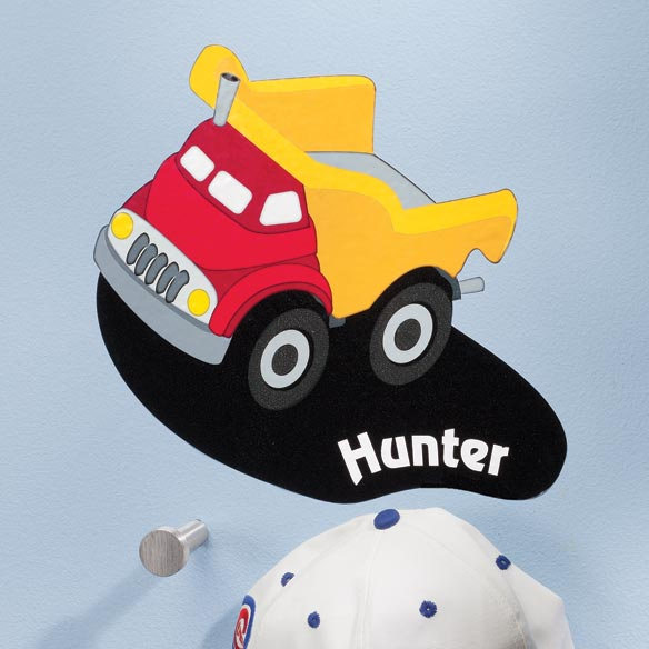 Personalized Dump Truck Décor Cling