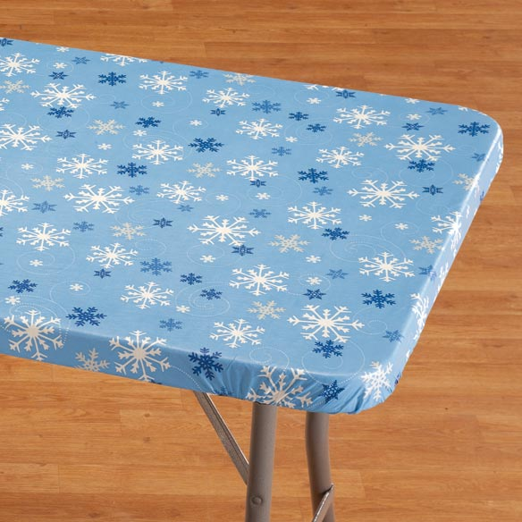 Snowflake Banquet Table Cover - View 1