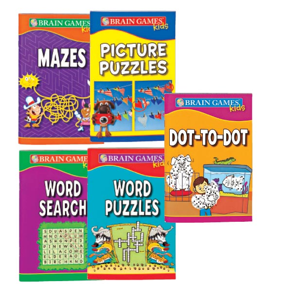 Brain Games™ For Kids-Set of 5