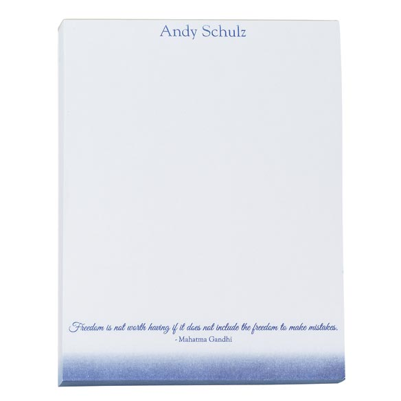 Personalized Inspirational Notepads Set of 4 - View 1