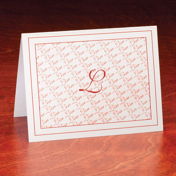 Personalized Monogrammed Note Cards - Set Of 25 - View 1