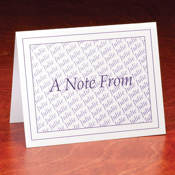 "Personalized ""A Note From"" Cards - Set Of 25 - View 1"
