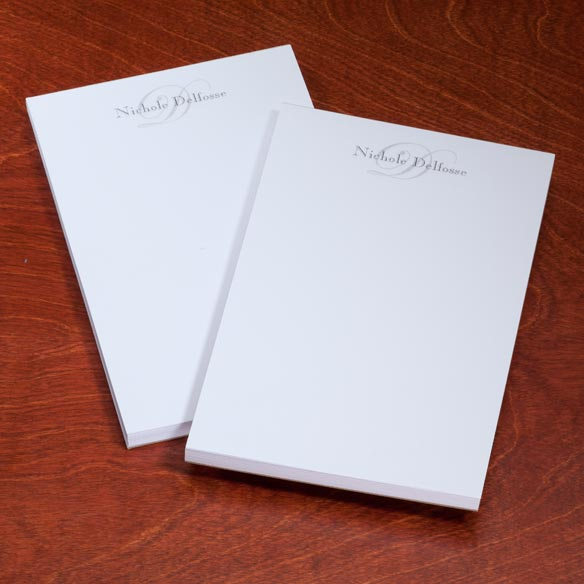 Personalized Script Notepads - Set Of 2