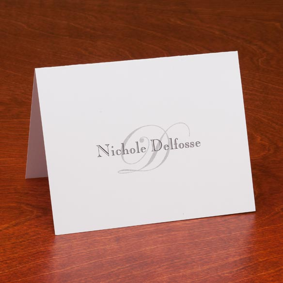 Personalized Script Note Cards - Set Of 25 - View 1