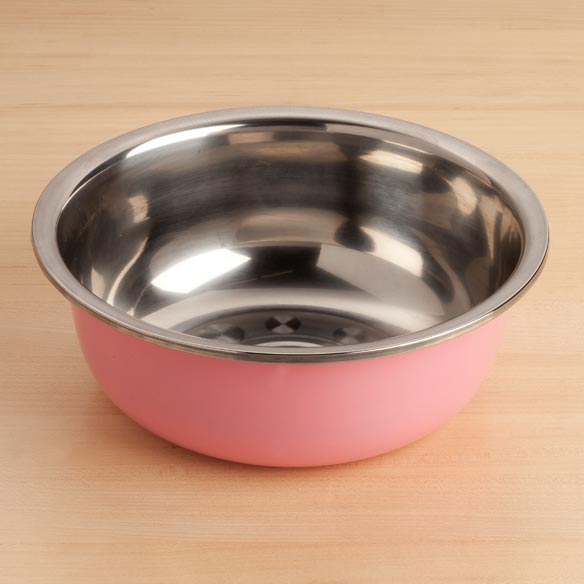 Medium Stainless Steel Bowl - Pink