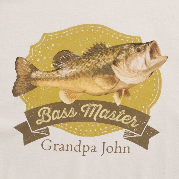 Personalized Bass Master T-Shirt - View 1