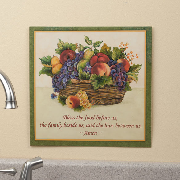 12 x 12 Antique Fruit Metal Wall Plaque