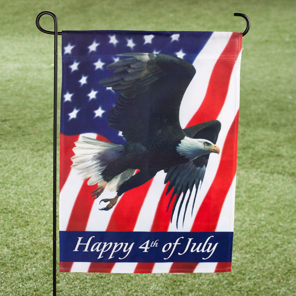 Happy 4th Patriotic Eagle Garden Flag