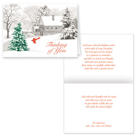 Winter Mill Christmas Card Set of 20 - View 1