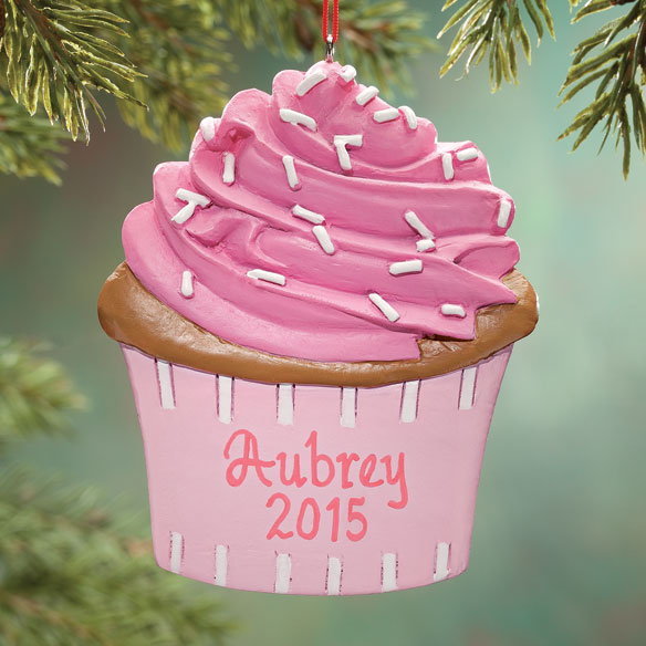 Personalized Cupcake Ornament