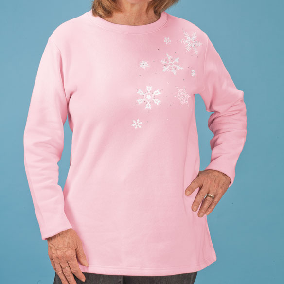 Swirling Snowflakes Tunic