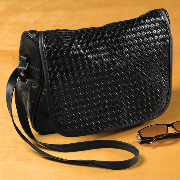 Basketweave Bag with Flap - View 1