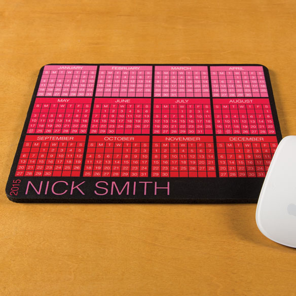 Personalized Classic Calendar Mousepad - View 1