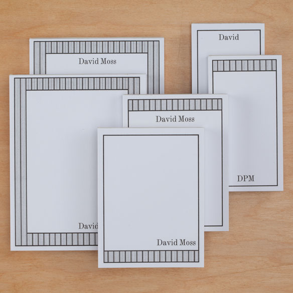 Personalized Vertical Stripes Notepads Refill Set of 6
