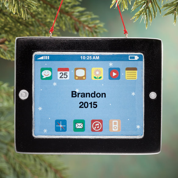 Personalized Computer Tablet Ornament
