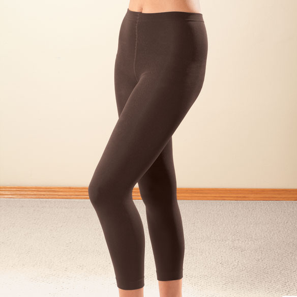 Footless Fleece-Lined Tights - 2 Pair