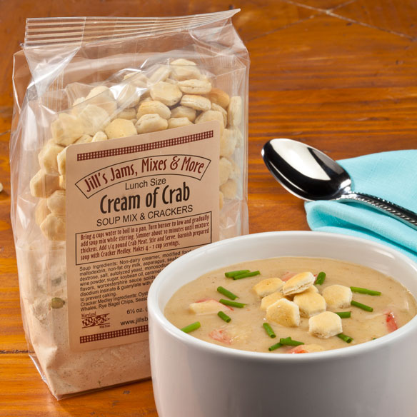 Luncheon Cream of Crab Soup Mix and Crackers