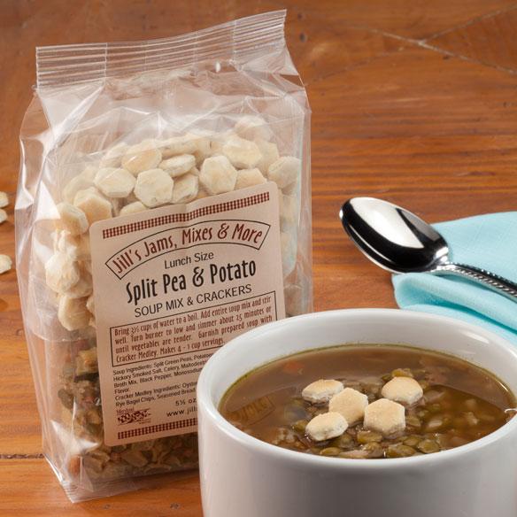 Luncheon Split Pea and Potato Soup Mix and Crackers - Soups & Pastas ...