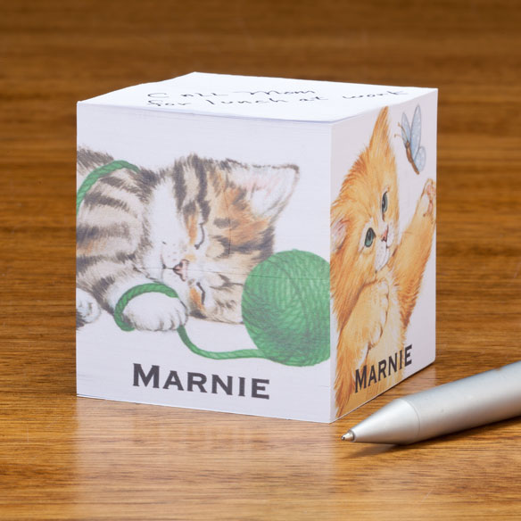 Personalized Kittens Self-Stick Note Cube