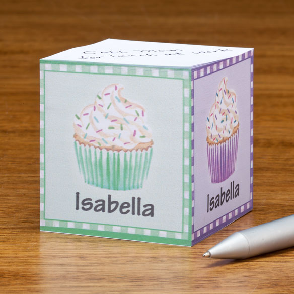 Personalized Cupcake Self-Stick Note Cube