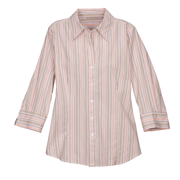 3/4 Length Striped Woven Shirts