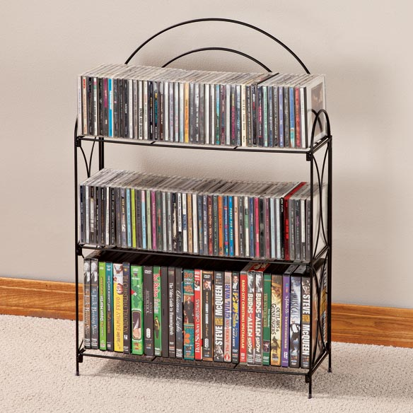 3 Tier Wire Media Shelf