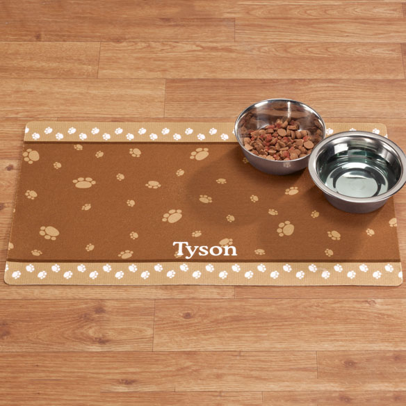Personalized Paw Print Pet Mat