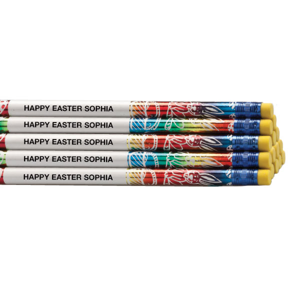 Personalized Easter Pencils, Set of 12