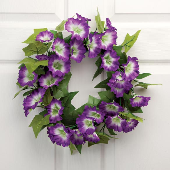 "16"" Petunia Wreath - View 1"