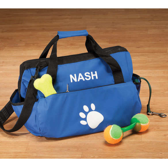 Personalized Paw Print Pet Supply Duffle Bag