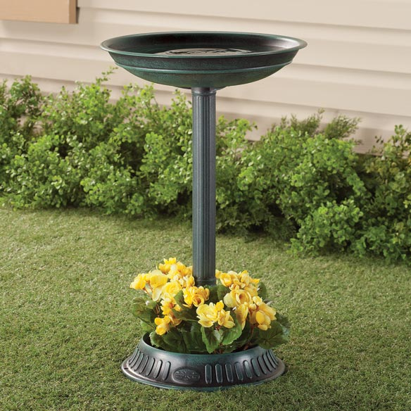 Birdbath With Planter - View 1
