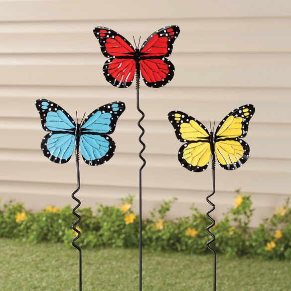 Butterfly Lawn Stakes by Maple Lane Creations - Set of 3 - View 1