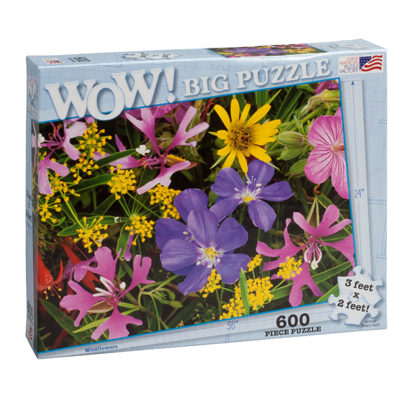Jumbo Wildflowers Puzzle - 600 Pieces - View 1
