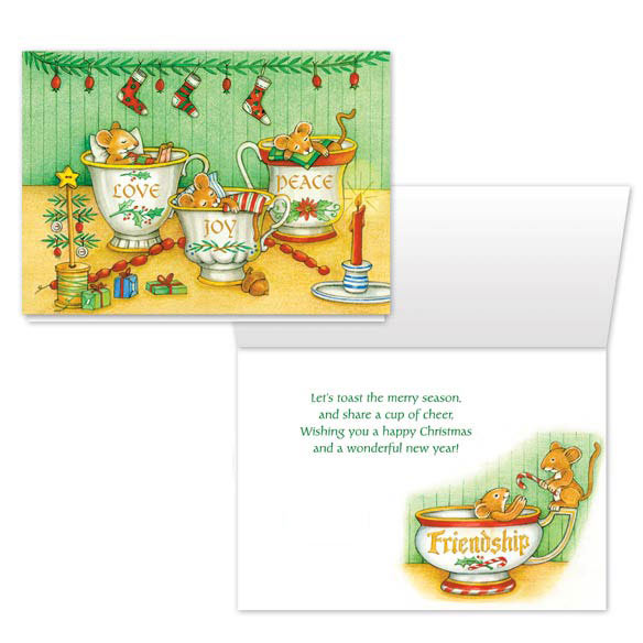 Christmas Mice Non Personalized Christmas Card Set of 20