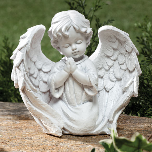Charming Https://media.mileskimball.com/images/p351296b. Cherub Garden Statue  Gracing ...