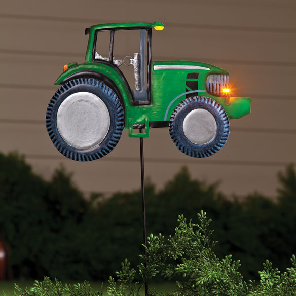 Solar Metal Tractor Stake by Maple Lane Creations™