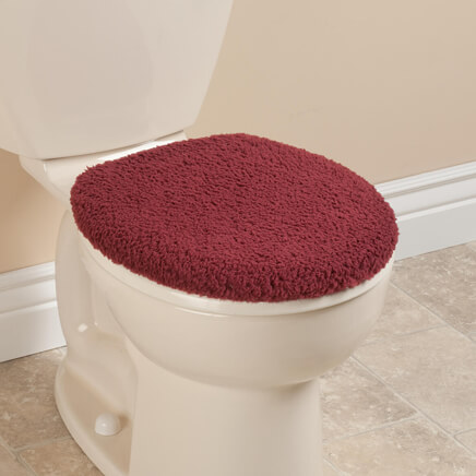 cushioned toilet seat covers. Sherpa Toilet Seat Lid Cover by OakRidge  Comforts 351509 Cushioned Miles Kimball