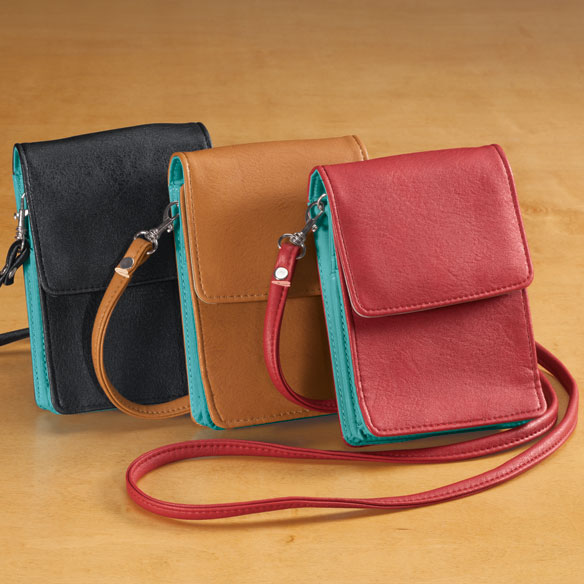 RFID Blocking On-the-Go Crossbody Bag - View 1