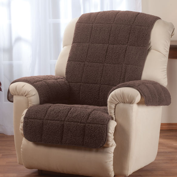 Waterproof Quilted Sherpa Recliner Protector by OakRidge Comforts™ - View 1